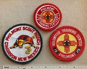Three 3 Vintage Philmont Scout Ranch Boy Scout Patches Nm Camp Training Center