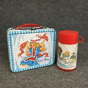 Vintage 1970andrsquos Junior Miss Metal Lunchbox With Thermos Made By Aladdin