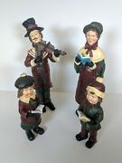 Vintage Victorian Christmas Carolers Family Of Four Classic Holiday Figurerines