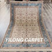 Yilong 5and039x8and039 Handmade Silk Area Rugs Home Decorative Hand Knotted Carpets L39b