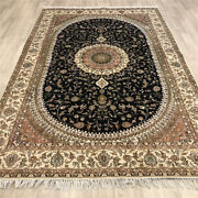 Yilong 6and039x9and039 Blue Hand Knotted Area Rugs Indoor Silk Classic Wool Carpets 488c
