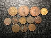 Civil War Tokens And Firemans Medal And City Hall 12 Medals In This Lot