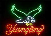 Yuengling Eagle Neon Sign 20x16 Light Lamp Beer Bar Pub Wall Decor Real Glass