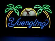 Yuengling Eagle Palm Trees Neon Sign 20x16 Light Lamp Beer Bar Pub Wall Decor