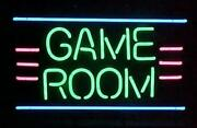 New Game Room Neon Sign 17x14 Light Lamp Man Cave Poster Real Glass Decor Gift