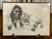 Ozz Franca Personally Signed Indian Print Picture