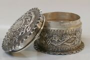 Dated 1881 London Sterling Box By Frederick James Wiltshire Grapes And Lizards