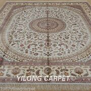 Yilong 8and039x10and039 Large Silk Area Rugs Hand-knotted Carpets Hand Made Discount 1251