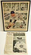 Vintage 1940and039s Chicago Cubs Cavarretta Wheaties Ad And Bowory Newsletter 2 Items