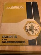1967 Shelby American Parts And Accessories Catalog Performance - Original