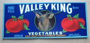 Wholesale Lot Of 50 Old Vintage Valley King Tomato Labels - Half Moon Fruit Co.