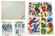 1974 Marvel Comics Our Way Studios Super Heroes Mail-order Stickers Marvelmania