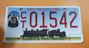 Real New Mexico State License Plate Cumbers And Toltec Railroad Auto Car Tag Train