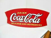 Coca Cola Sign Vintage Rare Metal Drink Old Red Advertising Japanese Ad Sign 27