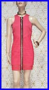 New Versace Crystal Embellished Pink Ruched Mini Dress 38 - 2