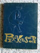 1968 Roselle Park Nj High School Yearbook Parkerscope Unsigned Very Good+