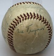 1958 Pittsburgh Pirates Team Signed Ball Pie Traynor Auto Jsa Authentic