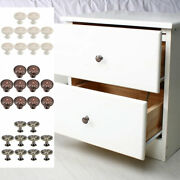 Drawer Knobs Metal Round Pull Handle For Dresser Cabinet 24mm 10pcs