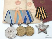 Soviet Corporal Of Self-propelled Artillery Regiment 1440 Researched Medal Group