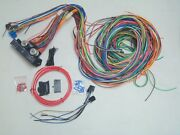 1949-54 Gm Chevy Olds Pontiac Car 12v 24 Circuit 15 Fuse Wiring Harness Wire Kit