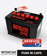 Autolite Battery Group 27 Sv-27f Red 1965-70 Push In Caps Kit