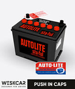 Autolite Battery Group 24 Sv-24r Red 1965-70 Push In Caps Kit