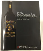 Christies Fine Wines/spirits From The Seller Of Chateau Angelus October 2014