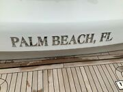 3.5 Tall Polished Stainless Steel Yacht Hailing Port Letters Palm Beach Fl