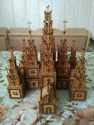 Model Church Of The Matches Wood Vintage 1960s