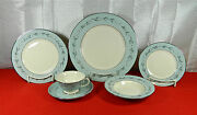 43-piece Set For 8 Of Franciscan Del Rio Pattern Fine American Made China