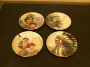 Perillo Set Of 8 Plates America's Indian Heritage Native American Collection
