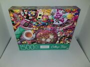 Jig Saw Puzzle Mb Embroidery Table Collage Time 1500 Pc. Brand New 32x24