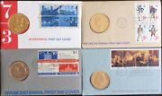 1973- 74- 75- 76andnbsp Set Of Bicentennial Stamp And Medal First Day Covers - New