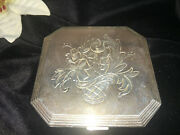 Sterling Silver 135.9 Grams Wadsworth Vintage Makeup Compact Case And Mirror