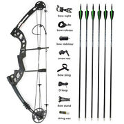Archery Compound Bow Arrows Set 30-55lbs Release Aid Bow Sight Hunting Shooting