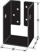 4 Pk Simpson Strong-tie Aphh46r Accents Concealed Flange Heavy Joist Hanger