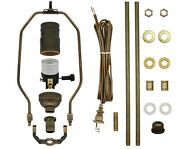 Antique Brass Make-a-lamp Kit With All Parts And Instructions For Diy Lamp Repair