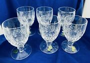"""Brand New W Tags Signed Waterford Kilcash Water Goblet 5 1/4"""" Perfect Lot Of 6"""