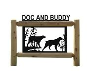 Hunting Dogs Signs - Brittany Spanials - Rustic Log Decor