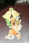 Rare Late 1800and039s/early 1900and039s Paper Christmas Decoration Child Angel W/ 2 Bells