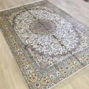 Yilong 6and039x9and039 Medallion Hand Knotted Carpets Antique Pictorial Silk Rugs 090c