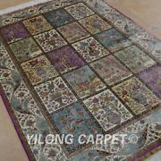 Yilong 4and039x6and039 Silk Rugs Classic Handmade Carpets Four Seasons Hand Knotted 0636