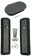 Chevy Black Aluminum Short Milled Valve Covers And 15 Finned Air Cleaner Kit 5.7l