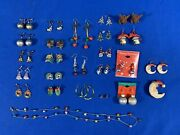 Lot Of Vintage And Contemporary Christmas Holiday Jewelry