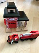 Thomas Sodor Fire Dept. No. 36 Wooden Fire Station Thomas The Train Complete