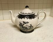 Pretty Black Toile Teapot And Lid By Burton And Burton Excellent Condition Collector