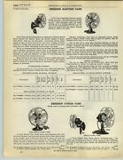 1928 Paper Ad Emerson Electric Fan Wal Mount Oscillating