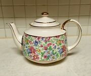 Vintage Floral Chintz By Sadler Beautiful Collectible Teapot And Lid Gifts For Mom