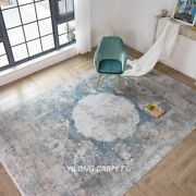 Yilong 7.9and039x11.2and039 Handwoven Turkish Bamboo Silk Carpet Kid Friendly Rug T008