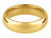 Gents 9ct Yellow Gold Court Shape Heavy Weight Wedding Ring In Sizes Q-z+4